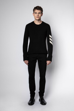 KENNEDY ARROW CASHMERE SWEATER BLACK