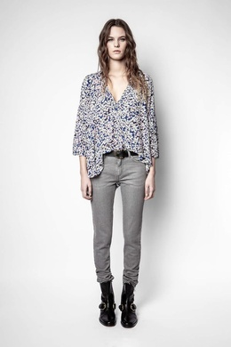 TIDE BEGONIA PRINT TOP