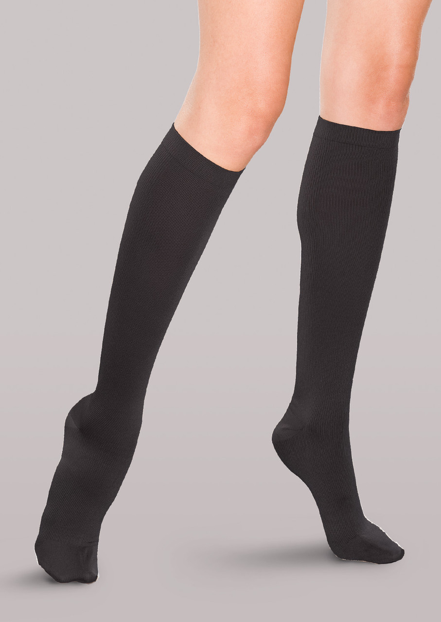 Therafirm Women's Moderate Support Ribbed Trouser Socks - Therafirm