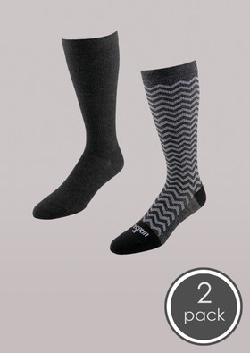 Fashion - Core-Spun Light Support Sock 2 Pack