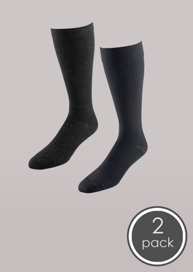 Dress & Casual - Men's Moderate Support Socks 2 Pack