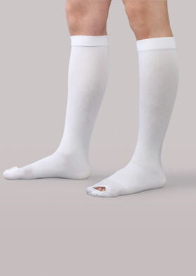 Therafirm Anti-Embolism Knee High Open-Toe Stockings