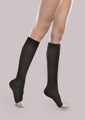 Sheer Ease Open-Toe Women's Mild Support Knee High
