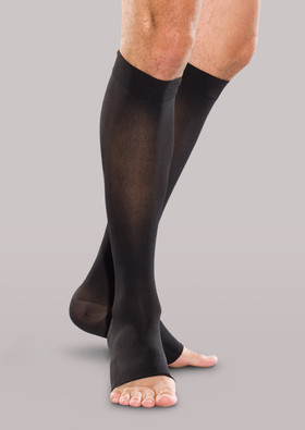 Therafirm Firm Support Knee High Open-Toe Stockings