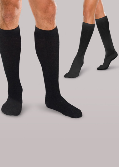 Premium Core-Spun Moderate Support Socks with Silver