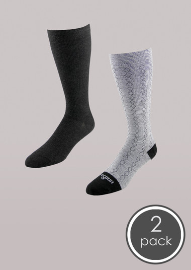Fashion - Core-Spun Mild Support Sock 2 Pack