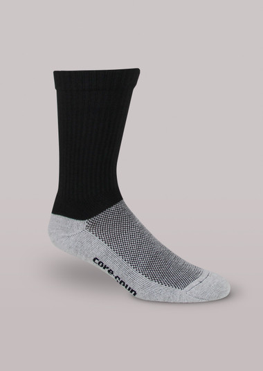 CoreSpun Light Support Crew Socks
