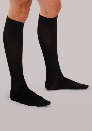 Therafirm Men's Firm Support Ribbed Dress Socks