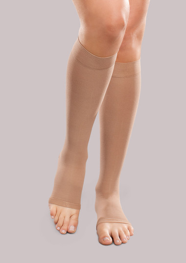 Ease Unisex Mild Support Open-Toe Knee High