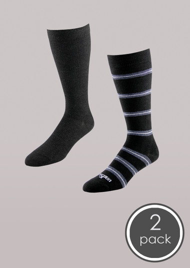 Fashion - Core-Spun Moderate Support Sock 2 Pack