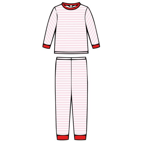 Children's Pajama Set - Pink Stripe - 2021 Christmas Collection Pre-Order