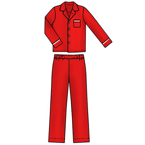 Adult Pajama Set - Solid Red - 2021 Christmas Collection Pre-Order