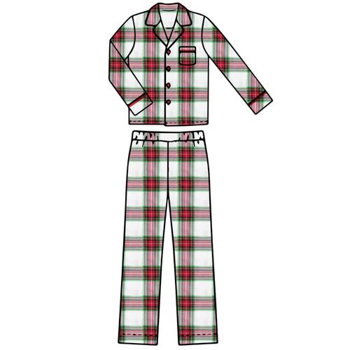 Adult Pajama Set - Plaid - 2021 Christmas Collection Pre-Order