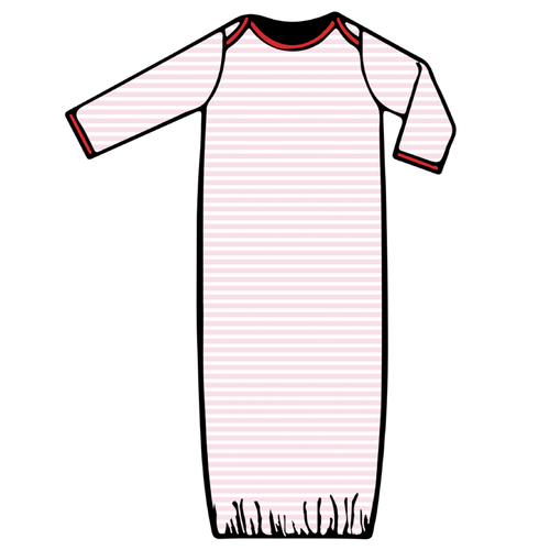 Baby Gown - Pink Stripe - 2021 Christmas Collection Pre-Order
