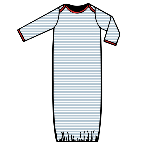 Baby Gown - Blue Stripe - 2021 Christmas Collection Pre-Order