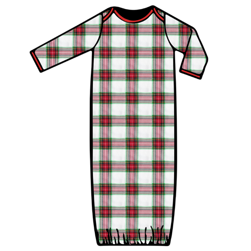 Baby Gown - Plaid - 2021 Christmas Collection Pre-Order