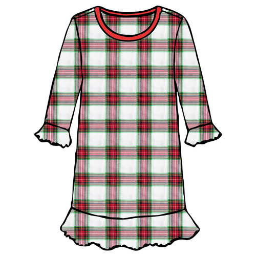 Girls A-Line Dress - Plaid - 2021 Christmas Collection Pre-Order