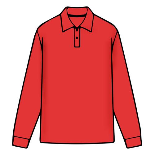 Boys Long Sleeve Red Polo - 2021 Christmas Collection Pre-Order