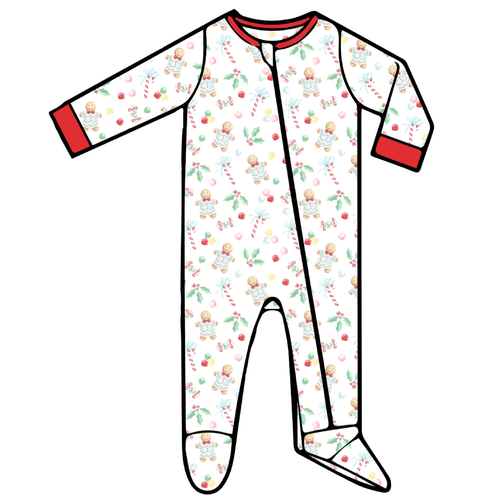 Baby Footed Romper - Gingerbread Boy - 2021 Christmas Collection Pre-Order