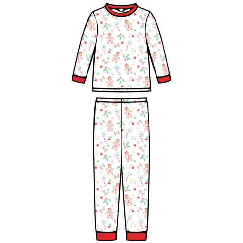 Children's Pajama Set  - Gingerbread Girl - 2021 Christmas Collection Pre-Order