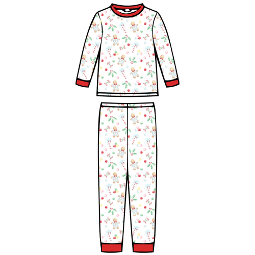 Children's Pajama Set  - Gingerbread Boy - 2021 Christmas Collection Pre-Order