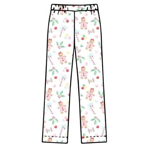 Adult Pajama Bottoms - Gingerbread Girl - 2021 Christmas Collection Pre-Order