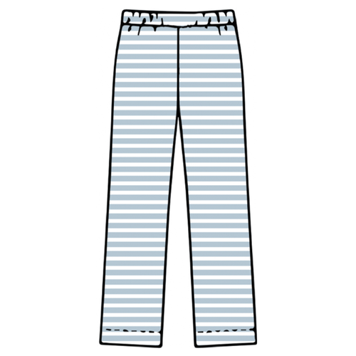 Adult Pajama Bottoms - Blue Stripe - 2021 Christmas Collection Pre-Order