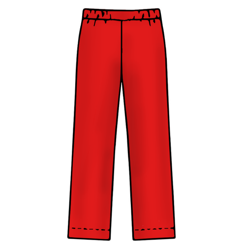 Adult Pajama Bottoms - Solid Red - 2021 Christmas Collection Pre-Order