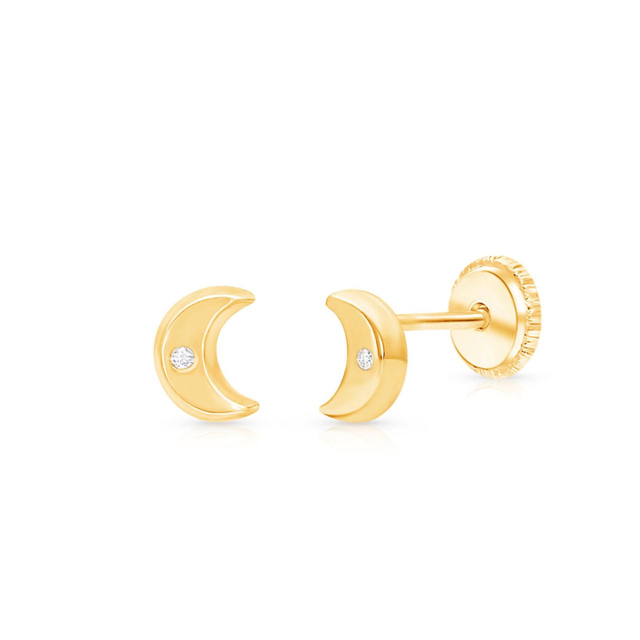 Moon Earrings Luna earrings Crescent earrings