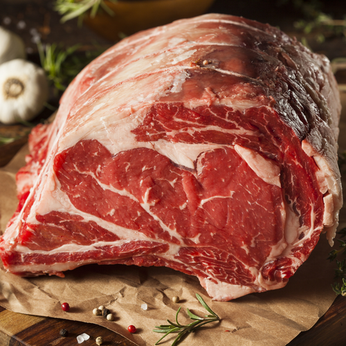 100% Organic Grass Fed Beef Rib Eye Roast