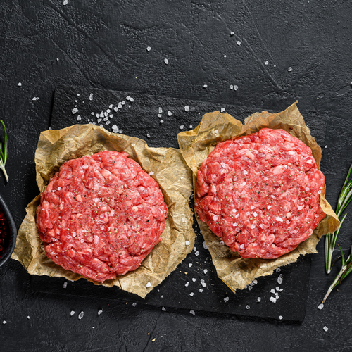 100% Organic Grass Fed Half-Pound Beef Burger Patties