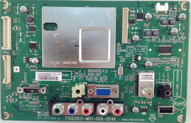 Vizio 756TXDCB02K006 Main Board for E241-A1 (715G6013-M01-000-004X)