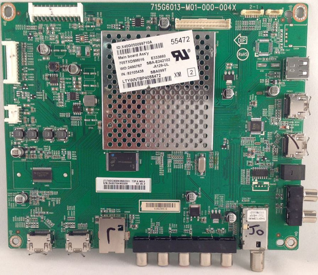 Vizio 756TXDCB02K055 Main Board for E500i-A1 (715G6013-M01-000-004X) - Front