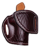 """EXAMPLE: HF-1 with """"Black Cherry"""" leather color,  """"White Thread"""", """"Cross-Cut Tooling"""", """"Leather Lining"""" and """"Sweat Shield"""". The only thing left to say is WOW! Price as shown: $265"""