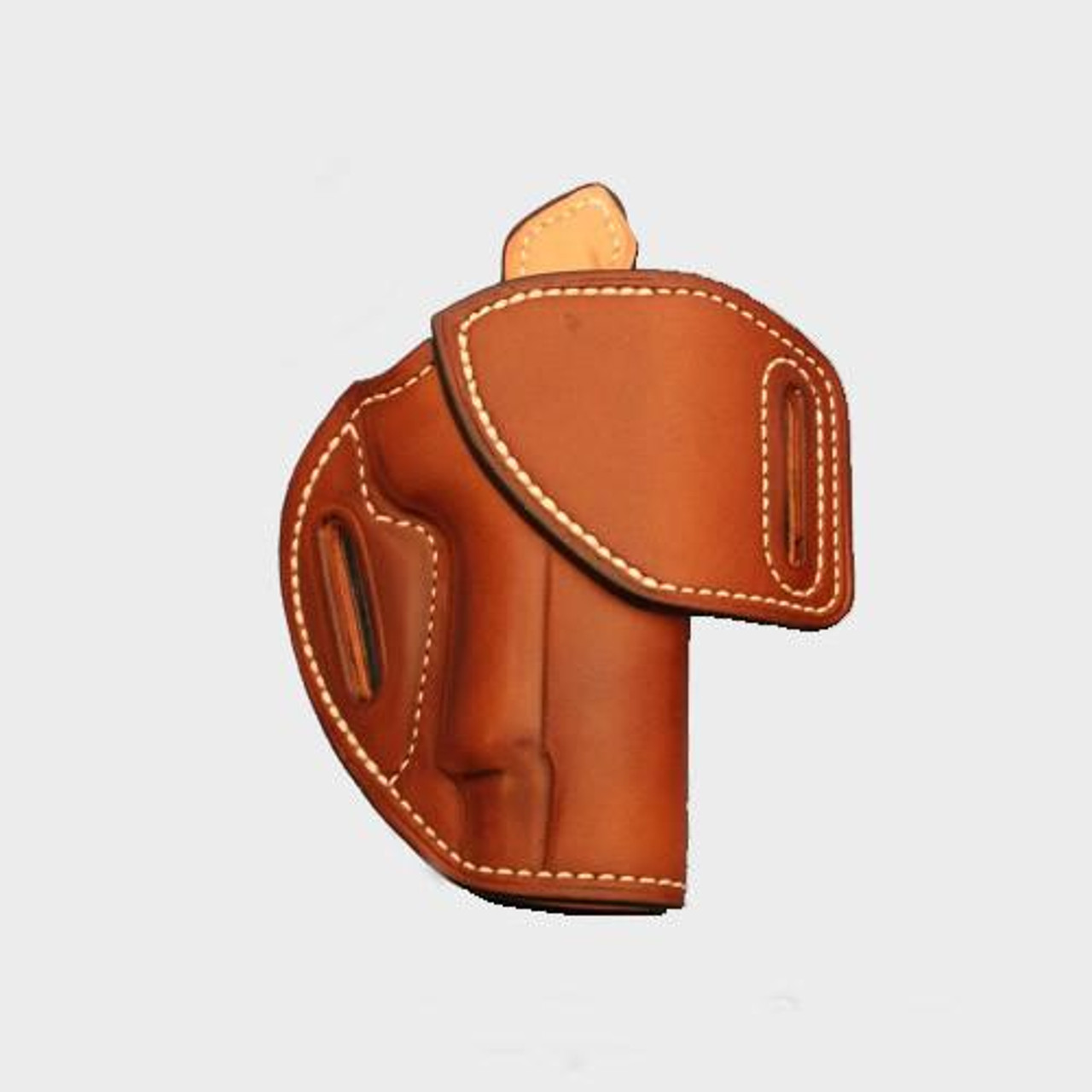 """EXAMPLE: HF-1 with """"Saddle Tan"""" leather color, white thread, """"Leather Lining"""" and """"Sweat Shield"""".  Price as shown: $265"""