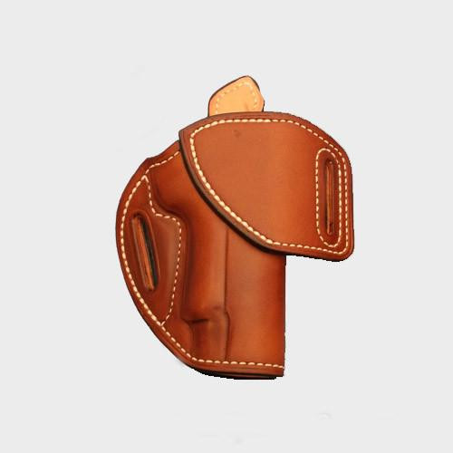 """EXAMPLE: HF-1 with """"Saddle Tan"""" leather color, white thread, """"Leather Lining"""" and """"Sweat Shield"""".  Price as shown: $160"""