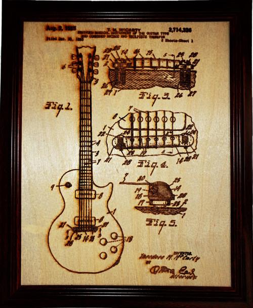 Gibson-Les Paul guitar patent #2,714,326