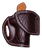 "HF-1 with ""Black Cherry Leather"" color, ""Cross-Cut Tooling"", ""Leather Lining"" and ""Sweat Shield"""