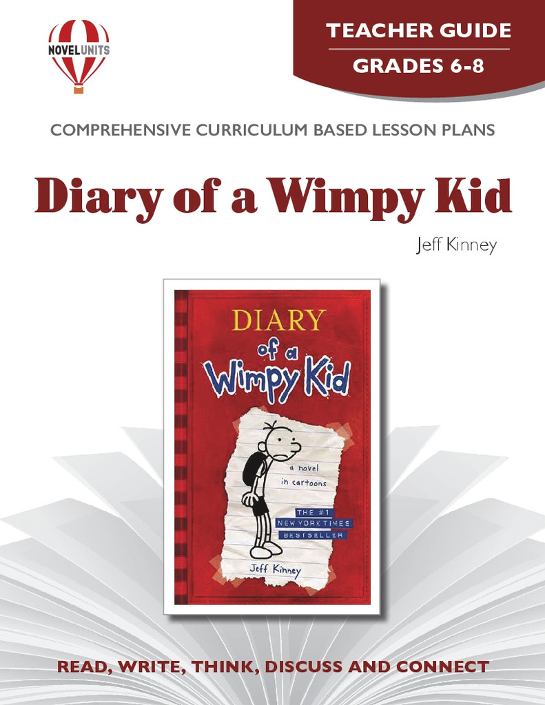 Diary Of A Wimpy Kid Novel Unit Teacher Guide