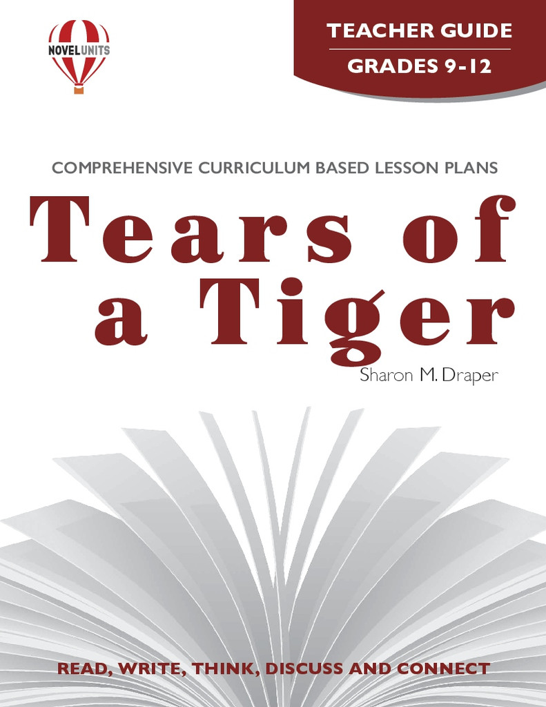 Tears Of A Tiger Novel Unit Teacher Guide
