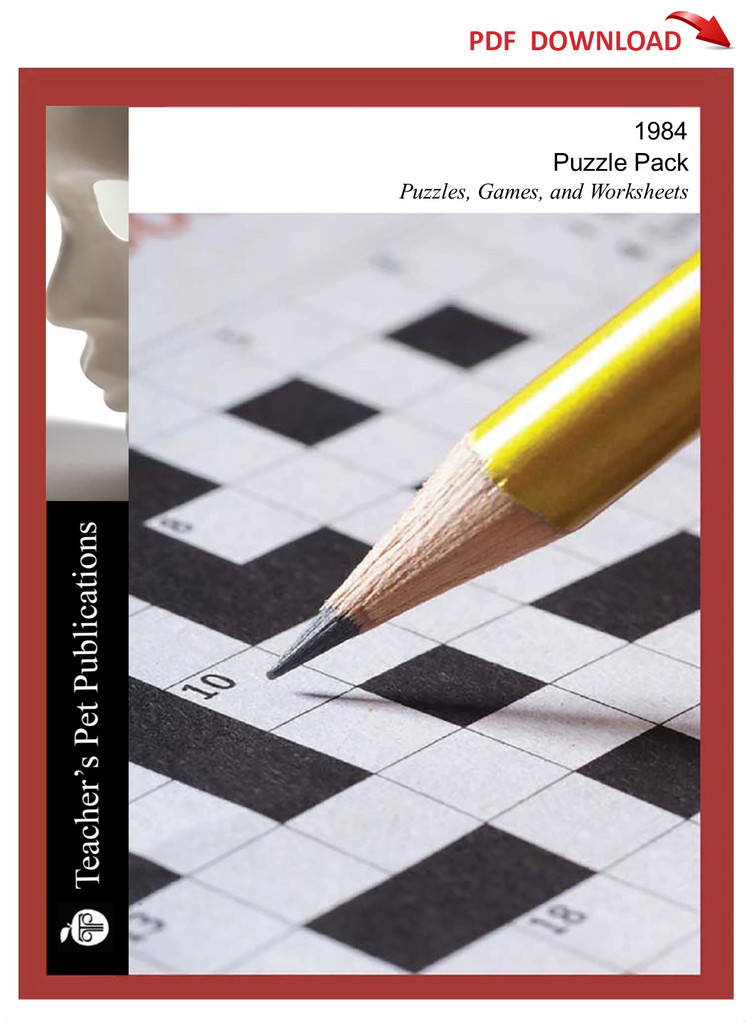 1984 Puzzles, Worksheets, Games | Puzzle Pack