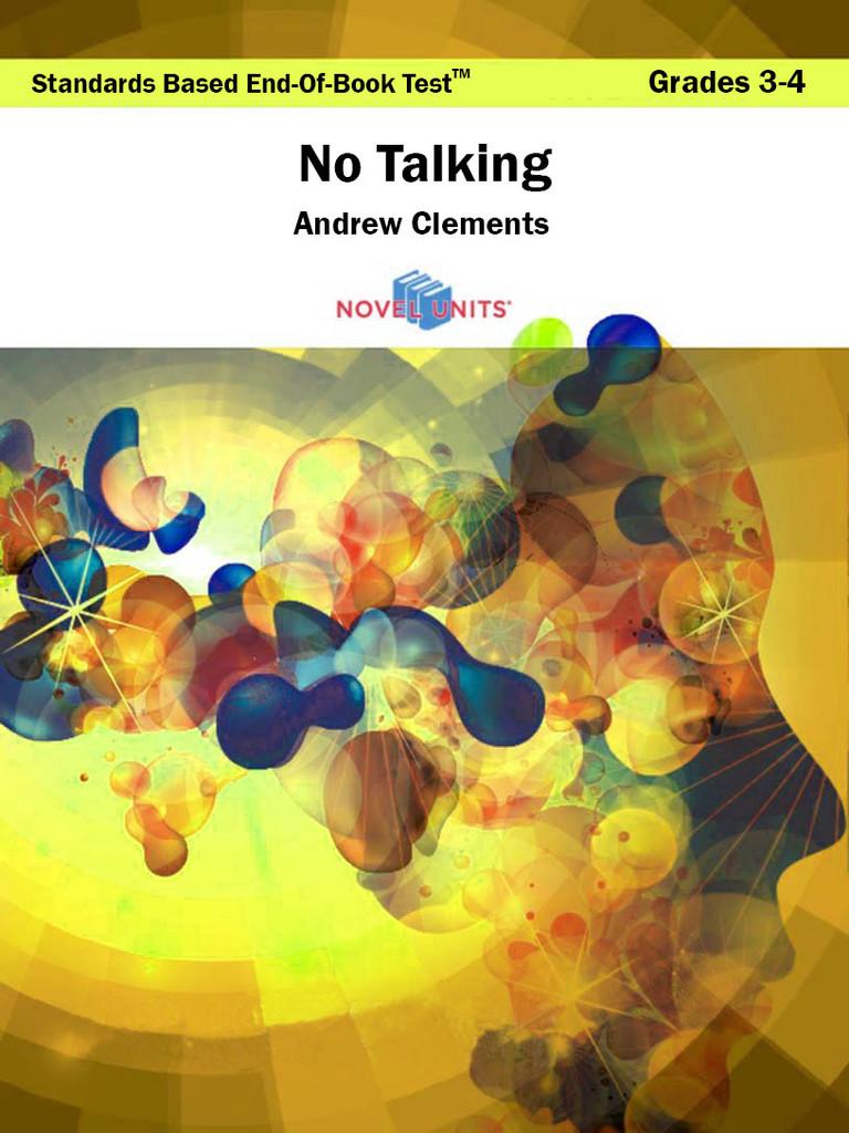 No Talking Standards Based End-Of-Book Test