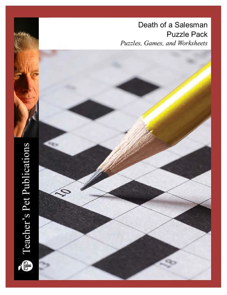 Death of a Salesman Puzzle Pack Worksheets, Activities, Games