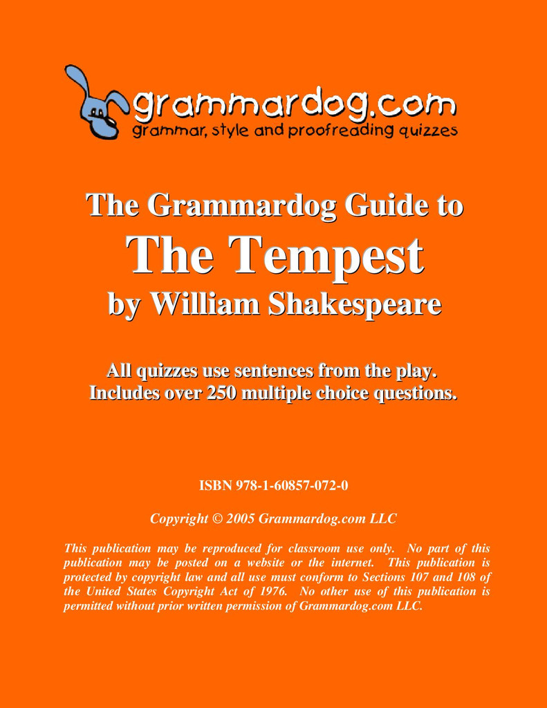 The Tempest Grammardog Guide