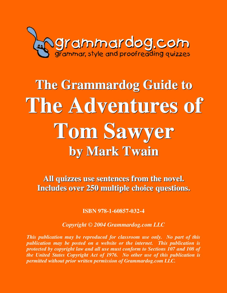 The Adventures Of Tom Sawyer Grammardog Guide
