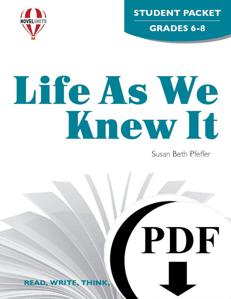 Life As We Knew It Novel Unit Student Packet