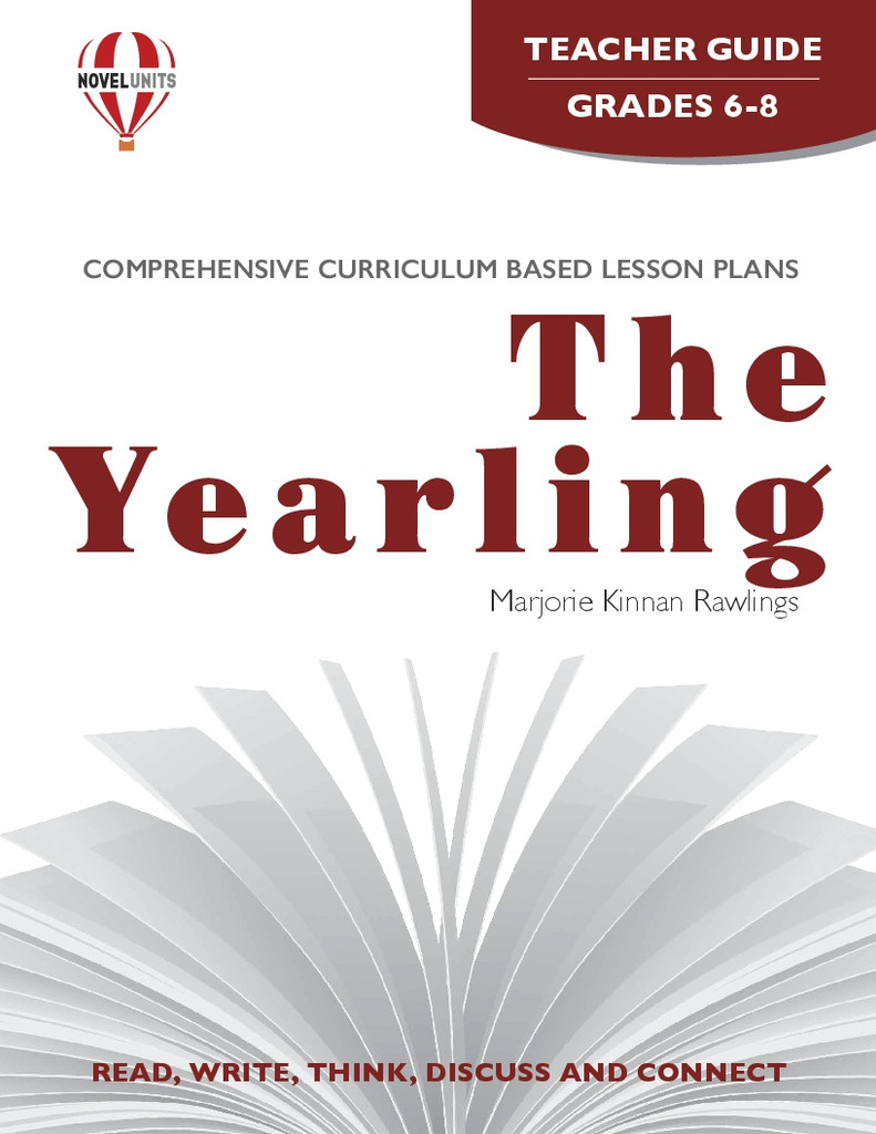 The Yearling Novel Unit Teacher Guide PDF Download