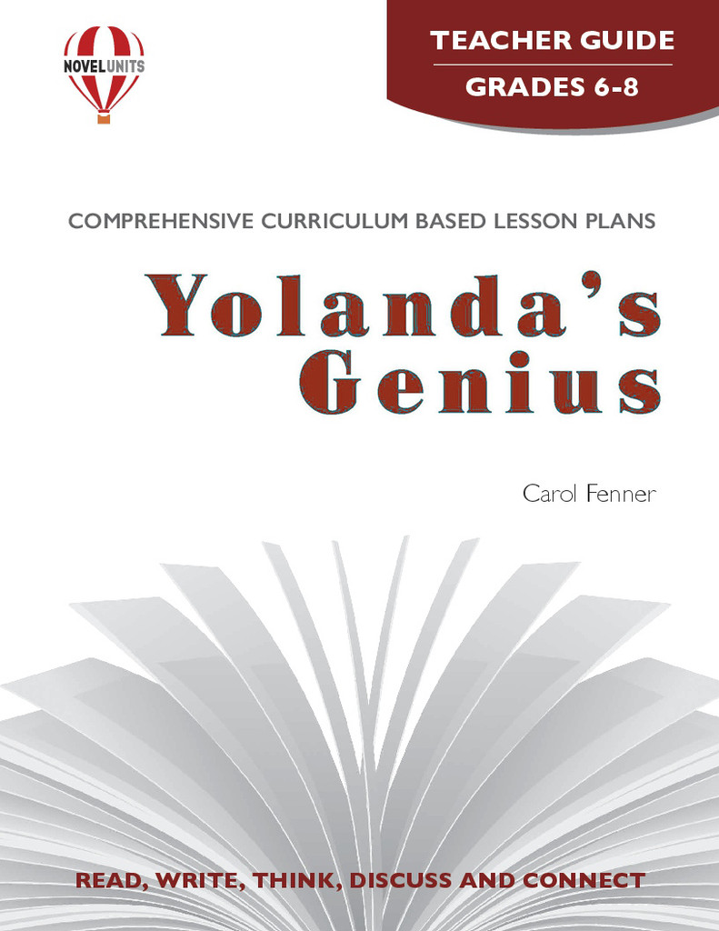 Yolanda's Genius Novel Unit Teacher Guide PDF Download