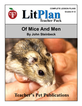 Of Mice and Men LitPlan Lesson Plans (Download)