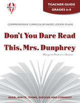Don't You Dare Read This Mrs. Dunphrey Novel Unit Teacher Guide